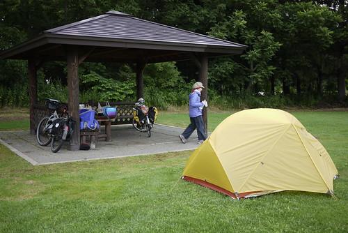 Midori Kobo Shari Campground (みどり工房しゃりそよ風キャンプ場) in Shari (Hokkaido, Japan)