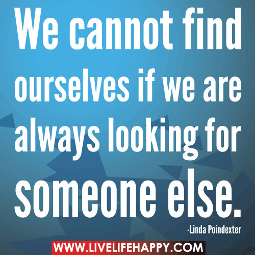 We Cannot Find Ourselves