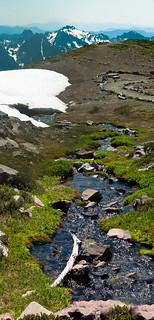 Glacial melt stream (pano)