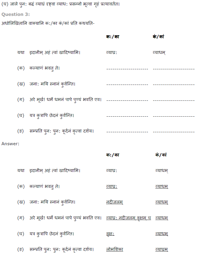 NCERT Solutions for Class 8 Sanskrit Chapter 5 धर्मे