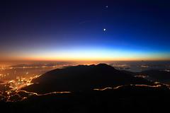 Sunrise + meteor shower