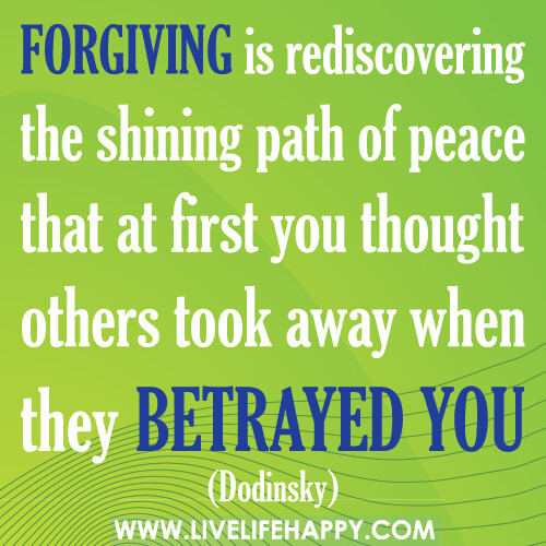 Forgiving Is Rediscovering