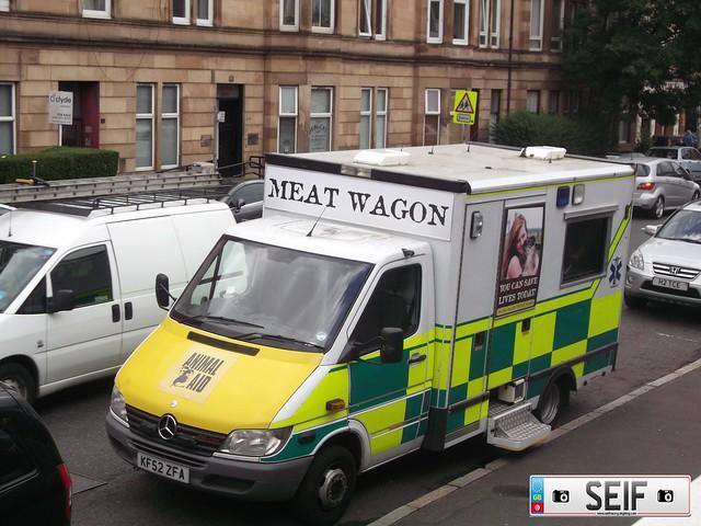 Mercedes Benz printer Ex Ambulance Glasgow2012