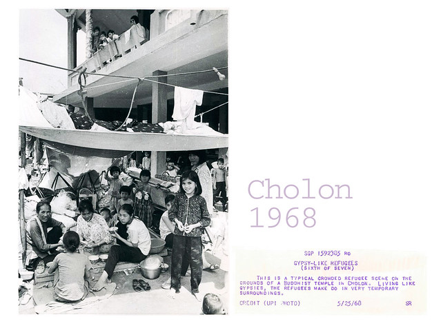 Cholon 1968 - Refugee Scene at Buddhist Temple