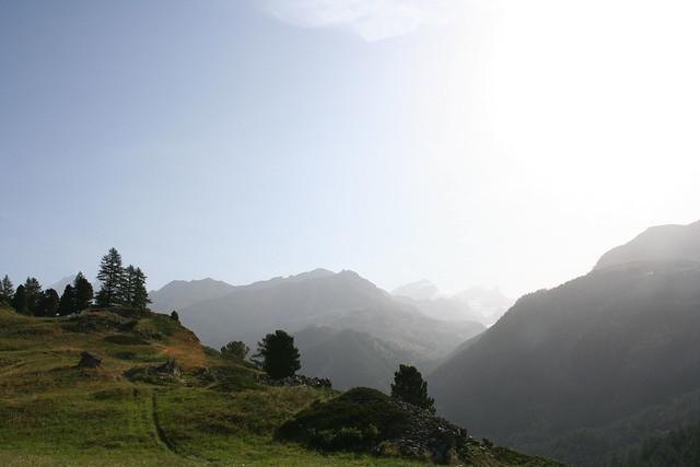 Views from the Edelweiss Trail in Zermatt