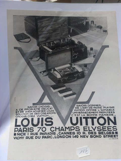 vintage Louis Vuitton print