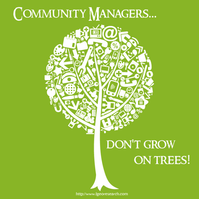 Community managers don't grow on trees