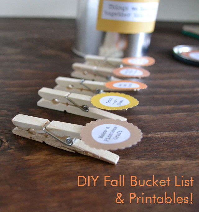 DIY Fall Bucket List and Printables