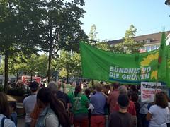 Auf der Gegendemonstration zur Demo der NPD