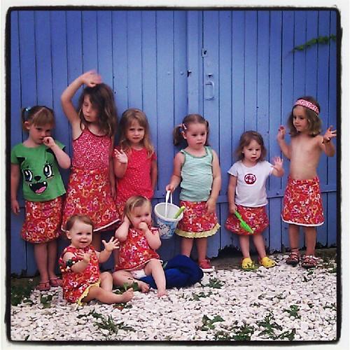 Acht meisjes