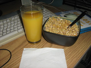 OJ and cereal