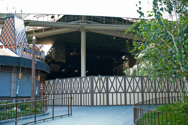 Fantasyland Theater Construction - Disneyland