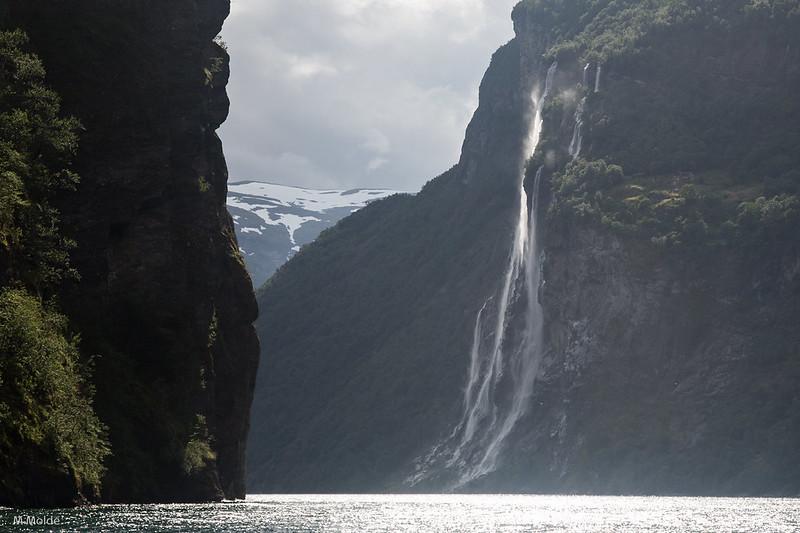 Norway Geiranger - Waterfall Syv Søstre