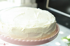 Flourless Chocolate Cake with Vanilla-Buttercream Frosting from Heather Christo Cooks