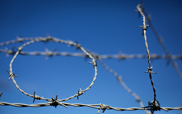 Barbed Wire Against The Sky