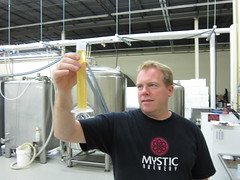 Brian measuring out some wort