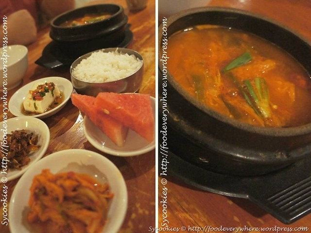 7.Kimchi Jiggae (boiled kimchi soup)(beef or chicken) RM15.90