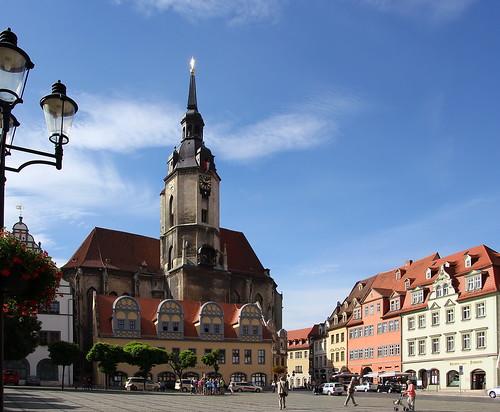 Naumburg, Marktplatz mit St. Wenzel