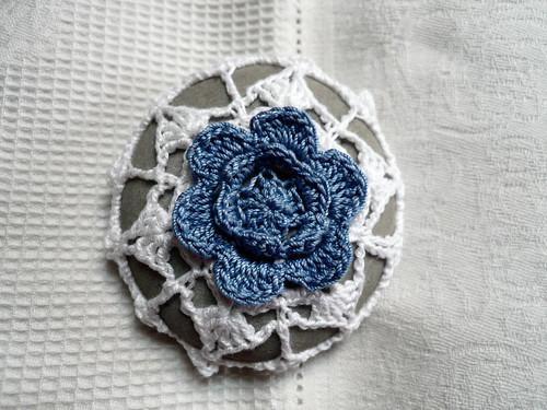 blue flower stone