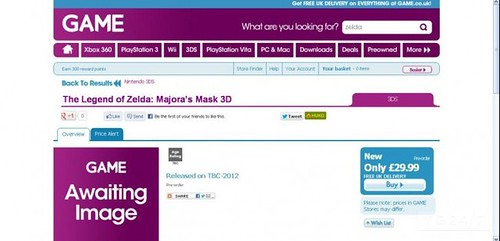 Majora's Mask Listing