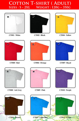 T-shirt Catalog - Adult