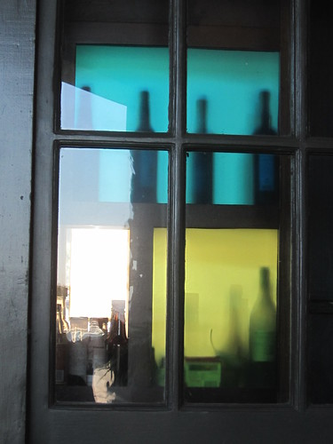 Bottle Silhouettes in a Window