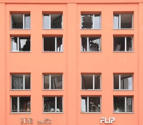 zersplitterte Fenster