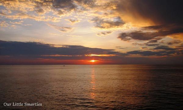 Sunrise at 7:14am