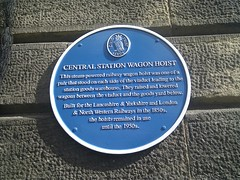 Photo of Central Station Wagon Hoist blue plaque