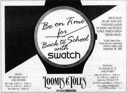 Vintage Ad #2,002: Buy Art Supplies, Get Free Swatch! by jbcurio