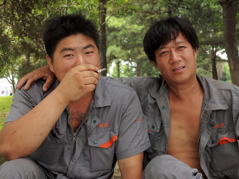 Travailleurs chinois en pause