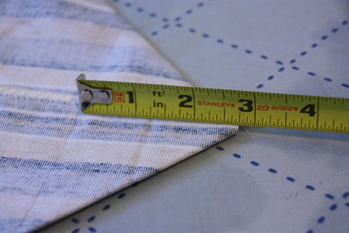 11 - Measure depth of Corner Seam