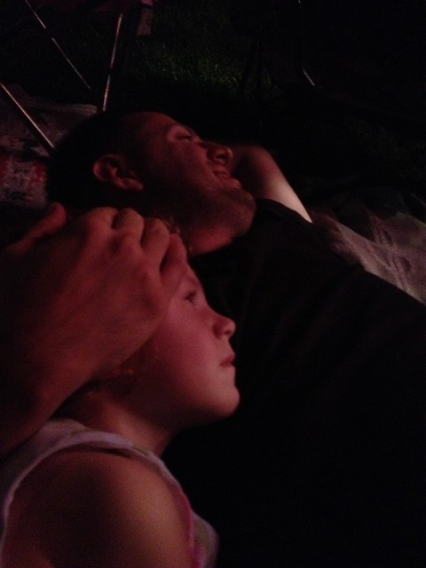 Watching the fireworks after the concert. #happyincle