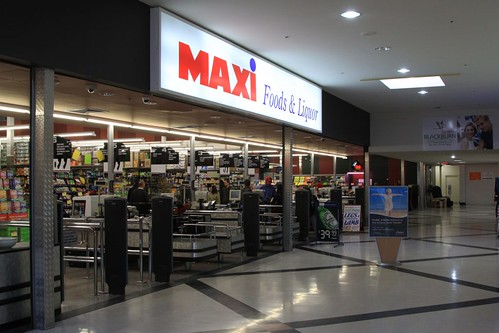 Maxi Foods supermarket at Blackburn North Shopping Centre