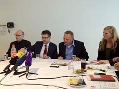 Pressegespräch: Norbert Römer (SPD), Reiner Priggen (Grüne)