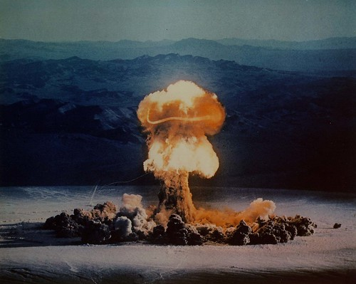 Nuclear weapons test in Nevada in 1957