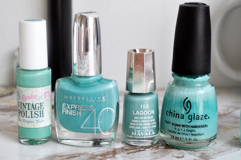mint green nail polish 2