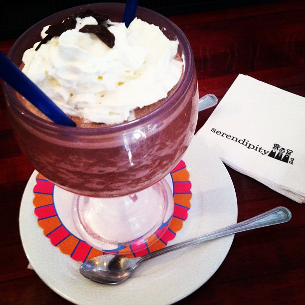 Frozen hot chocolate at @serendipity3dc