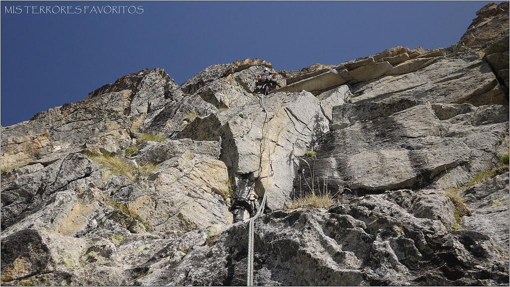 """PICO DE RAMOUGH 3011 m - VÍA """" A RECHERCHE DU TEMPS PERDÚ"""" 400m MD sup"""
