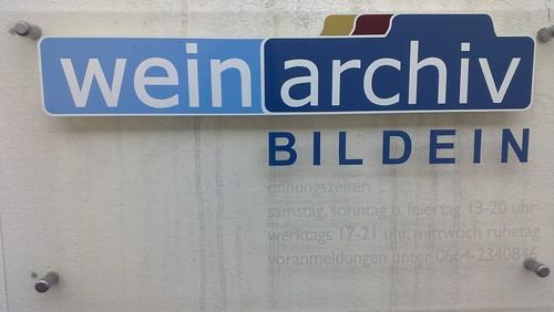 Weinarchiv Bildein / Eingang