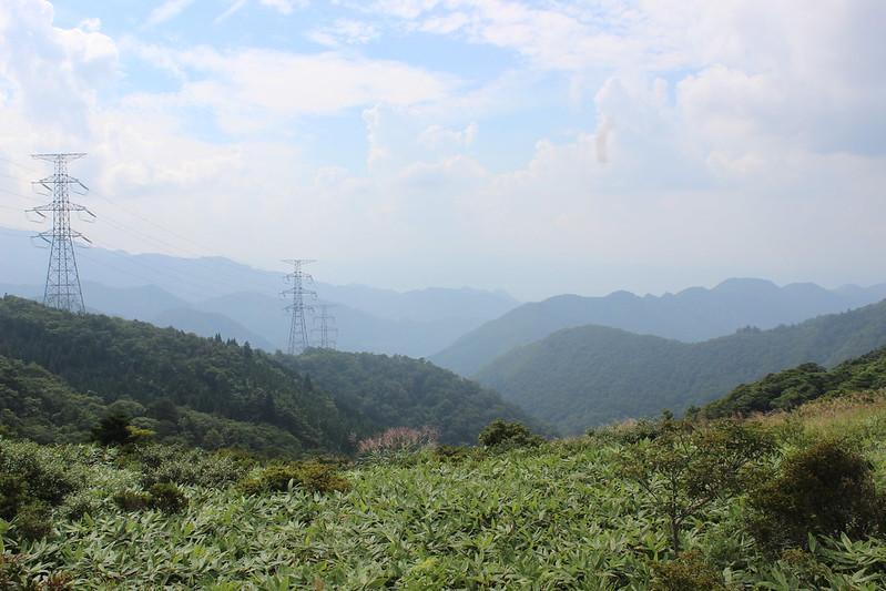 笹谷峠手前からの景色