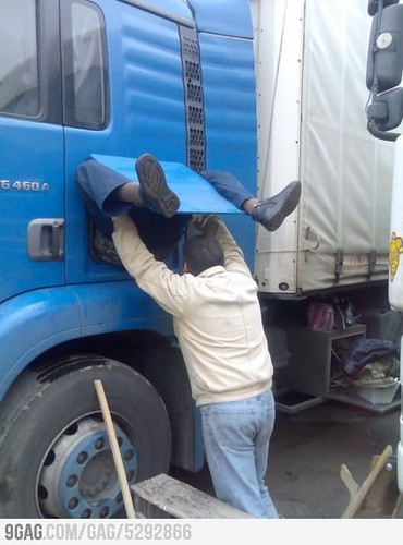birth of a truck driver