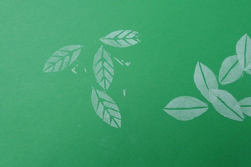 leaves stamped