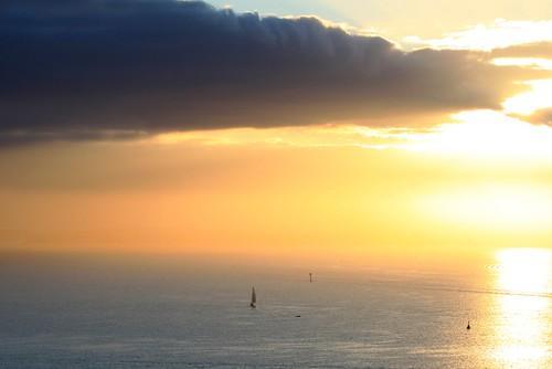 ocean sky clouds sunrise goldensky
