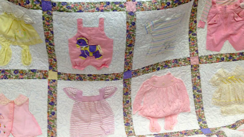 Girls Baby Clothes Quilt