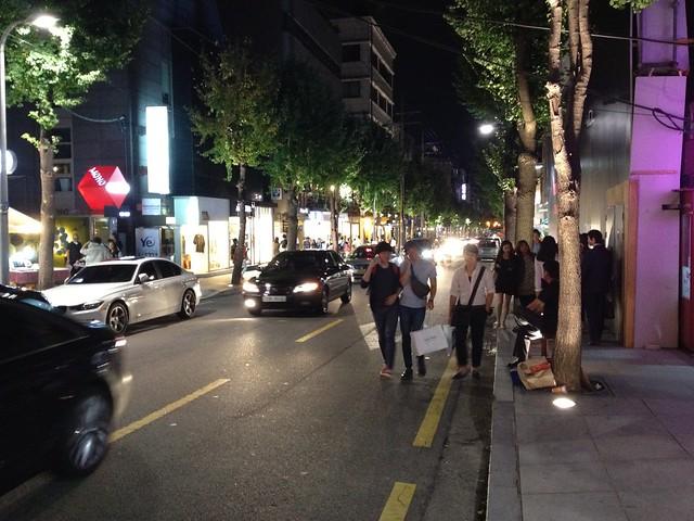 Garosugil street in Seoul