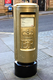 Hannah Cockroft's Golden Postbox
