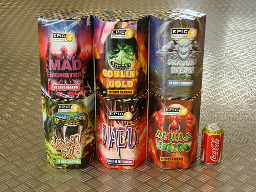 Mixed 19 Shot Cakes by Epic Fireworks
