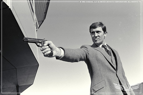 The Establishing Shot GEORGE LAZENBY SHOOTING ON HER MAJESTY'S SECRET SERVICE IN MURREN SWITZERLAND. © 1962 Danjaq, LLC & United Artists Corporation. All rights by Craig Grobler