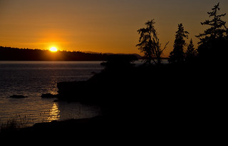 Jones Island Sunset, San Juan Islands